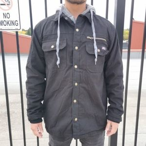 Dickies Hooded Button Up Jacket